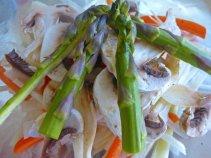 Carrots, Leaks, Mushrooms & Asparagus